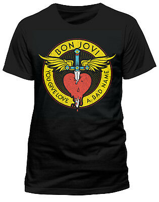 Bon Jovi 'Through The Heart' T-Shirt - NEW & OFFICIAL!