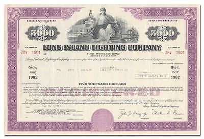 Long Island Lighting Company Bond Certificate