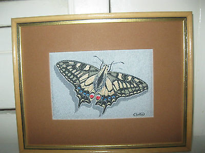 Cash's Silk-Woven Picture Of A Swallow Tail - Butterfly