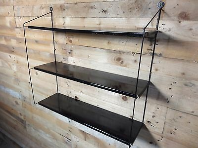 1960s RETRO VINTAGE  STRING/DUTCH COLOURED METAL TOMADO WALL SHELVING (B30)