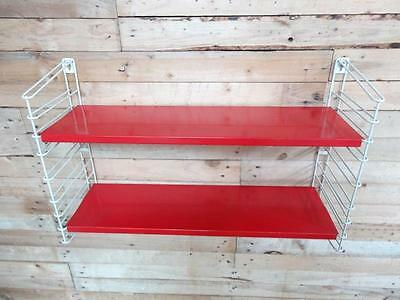 1960s RETRO VINTAGE  STRING/DUTCH COLOURED METAL TOMADO WALL SHELVING (B26)