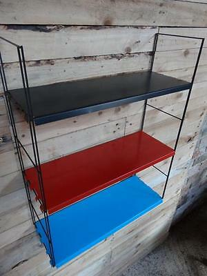 1960s RETRO VINTAGE  DUTCH COLOURED METAL TOMADO WALL SHELVING (B8b)