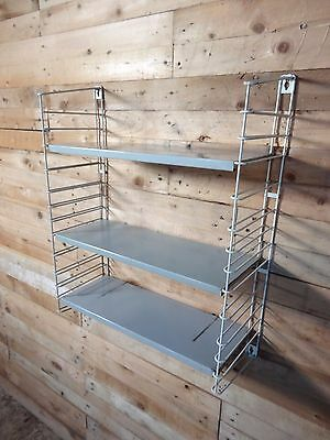 1960s RETRO VINTAGE  STRING/DUTCH COLOURED METAL TOMADO WALL SHELVING (B25)