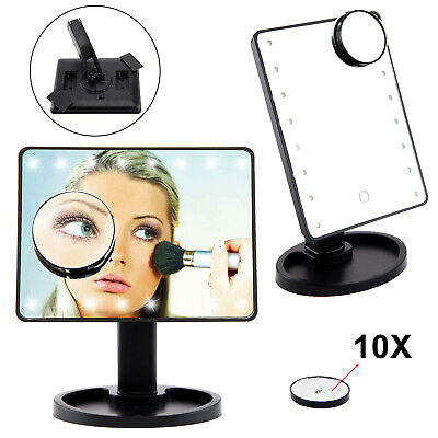 10X Magnifying Touch Screen 16 LED Light Vanity Make-up Cosmetic Tabletop Mirror