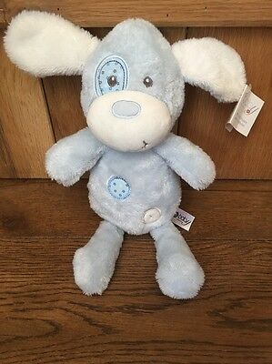 Chad Valley Plush My First Puppy Dog Blue Plush Baby Soft Toy Comforter ~ Bnwt