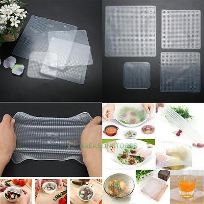 Re-usable Stretch and Fresh Food Wraps Silicone Food Bowl Covers Non-slip Mat