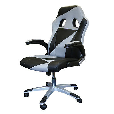 Office Gaming Swivel Desk Chair Luxury Leather Fabric Mesh Computer Comfort TT