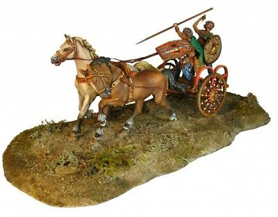 Tin Soldier, collector pain., celtic chariot, diorama, 54 mm, The Ancient world