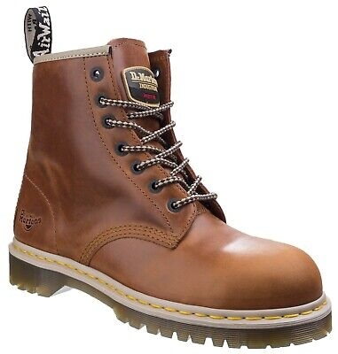 Dr Martens 7B10 tan SB waxy leather 7-eyelet Airwair safety boot size 3-13UK