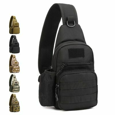Men's Tactical Sling Nylon Chest Backpack Molle Assault Climbing Shoulder Bags