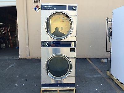Coin Laundry Equipment-Dexter Commerical Stack Dryers-Stainless DL2X30QSS