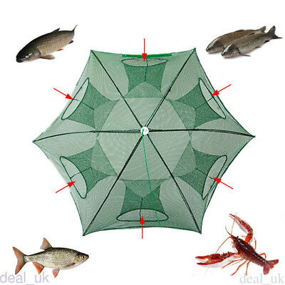 Foldable Fishing Bait Net Trap Cast Dip Cage Crab Fish Minnow Crawfish Shrimp