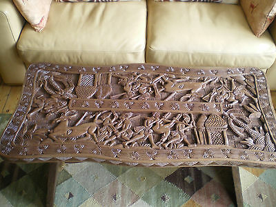 Vintage African Art Hand Carved Coffee Table Side Table