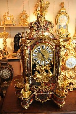 Antique French Boulle Table Clock With Console From 1860 -Free Worlwide Shipping