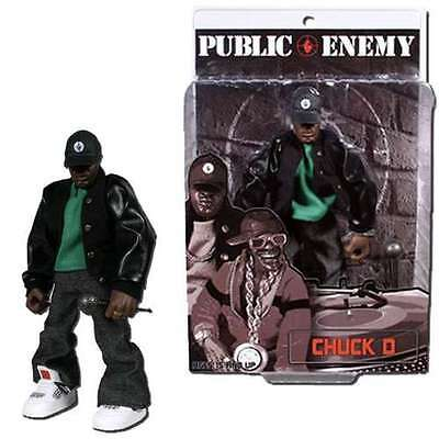 "PUBLIC ENEMY Toyz Chuck D MEZCO 8"" Figure RARE COLLECTOR HIP HOP RAP"