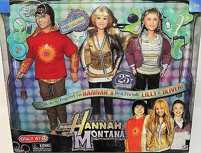 Disney HANNAH MONTANA, LILLY & OLIVER Dolls Target Exclusive Fab Friends 3 Miley