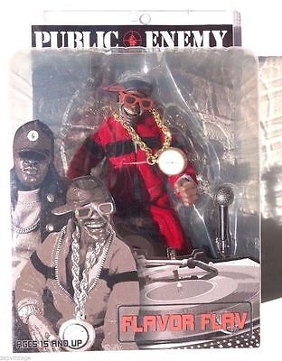 "PUBLIC ENEMY Toyz Flavor Flav MEZCO 8"" Figure RARE COLLECTOR HIP HOP RAP"