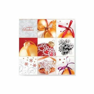 CHRISTMAS 20 Paper Lunch Napkins Winter BAUBLE BALL Decoupage Craft AHA550002