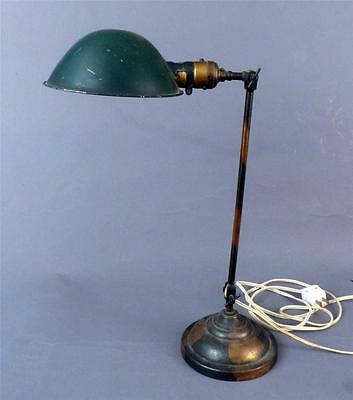 "Vintage, Industrial, ""Faries"", Japanned Brass, Table Lamp, OC White Era,"