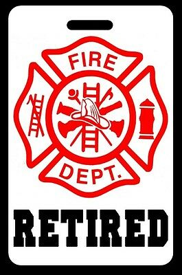 RETIRED Firefighter Luggage/Gear Bag Tag - FREE Personalization - New