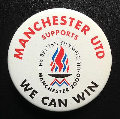 Manchester 2000 Olympic Games Bid Badge Supported By Man United