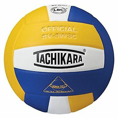 Tachikara Sensi-Tec Composite High Performance Volleyball Royal/White/Gold