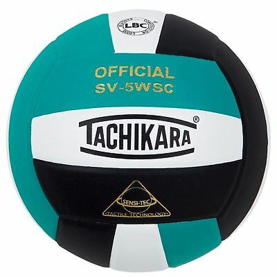 Tachikara Sensi-Tec Composite Colorful High Performance VolleyBall Teal/White...