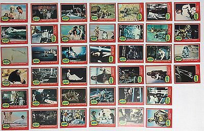 Star Wars 1977 Topps Movie Cards - Series 2 Red - 40 card set