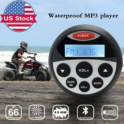 Bluetooth Radio Outdoor Waterproof Marine Yacht Audio Source Unit ATV RV Player
