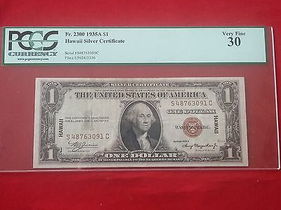 FR-2300 1935 A Series Hawaii WWII $1 Silver Certificate *PCGS 30 Very Fine*