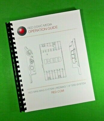 LASER PRINTED Red DSMC Media Mini-Mag SSD Operation User Manual Guide 129 Pgs