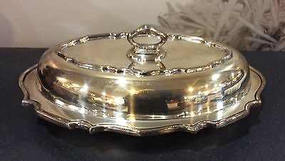 Vintage Sheffield P.S. & Co. Silver Plate Oval Covered Server Dish Signed