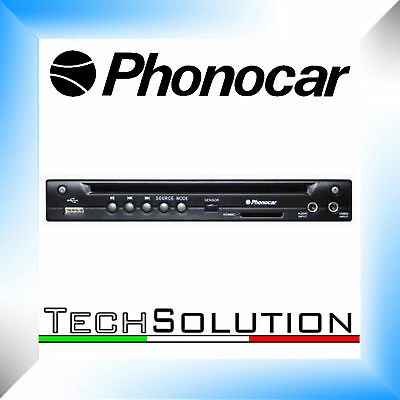 Phonocar VM015 Lettore DVD 12 Volt Slim 1/2 DIN SD USB MP3 AUTO