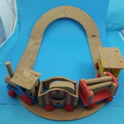 Knotwood wood style rail train track toy & figures Railway Carriages & figures