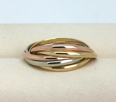 CARTIER Trinity 6 Band Ring 18kt Gold RW52