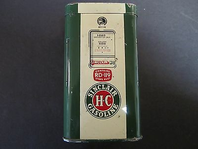 Vintage Sinclair H-C Gasoline Pump Tin Advertising Bank