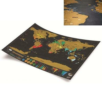 World map scratchable poster - interactive adventure tracker