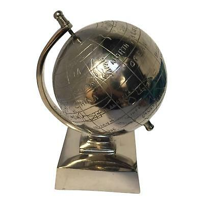 Lovable Small Nickel Silver Metal Globe