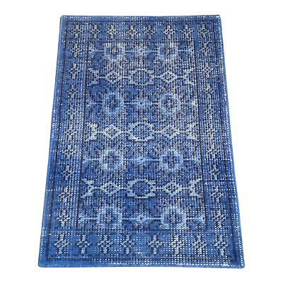 Attractive Blue Boho Chic Rug - 2' X 3'