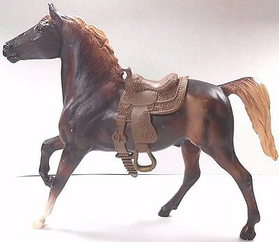 """Breyer Molding Co. Horse With Saddle Brown 8"""" Long 7"""" High"""