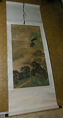 Antique Chinese Scroll Print Painting Clars Auction San Francisco SIGNED