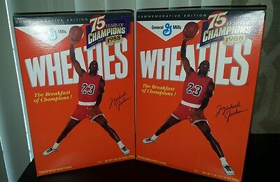 1988 Wheaties Cereal Box~Michael Jordan ~Never Opened ~2 Boxes