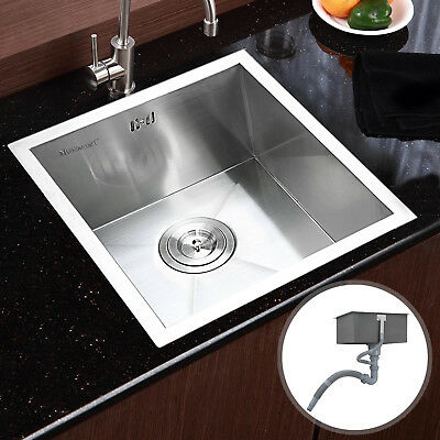 Commercial Handmade Stainless Steel Kitchen Sinks Square Single Bowl Catering