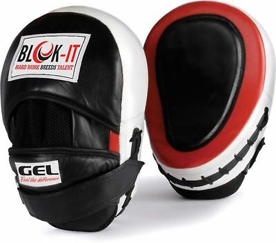 GEL Focus Pads: By Blok-IT --- [Focus Mitts Punch Mitts Hook & Jab Pads Punch...