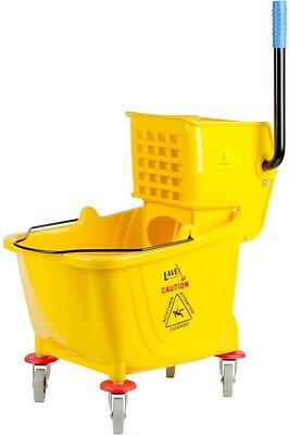 Lavex Janitorial 36 Qt. Yellow Mop Bucket And Wringer Combo