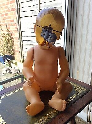 Vintage Celluloid Baby Doll French For Spares / Repair