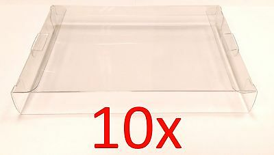 10 x NES CLEAR GAME BOX PROTECTIVE SLEEVE CASES - by Old Skool