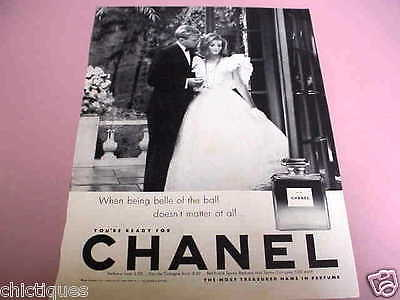 1963 CHANEL No 5 Perfume BELLE of the BALL Cute Prom Couple Vintage Print Ad