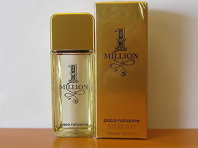 Milliion By PACO RABANNE MEN 3.4 oz After Shave Lotion  New in Box Seal
