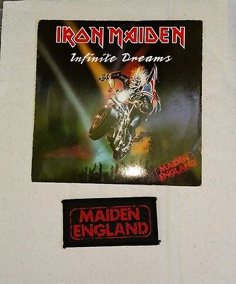 "Iron Maiden - Infinite Dreams 7"" Vinyl Record Single with Maiden England Patch"